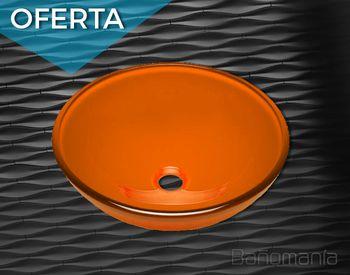 Bacha de vidrio Ø 30 cm naranja
