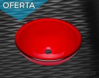 Bacha de vidrio Ø 30 cm roja