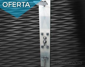 Bañomania Columna de ducha de vidrio blanco
